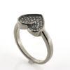 Billede af Classic by Pind ring hjerte sølv rhd  m.syn.zir