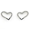 Billede af Classic by Pind hjerteørestikker sølv rhd med syn. zir.