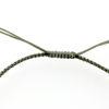 Billede af Classic by Pind armbånd støvet grøn knyttet m sølv plade
