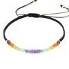 Billede af By Pind Colorful knyttet armbånd sort,med regnbue sten og sølvfg.