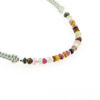 Billede af By Pind Colorful knyttet armbånd støvet grøn,med mix turmelin sten og sølv