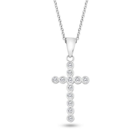 Billede af By Pind halskæde sølv med kors m syn.zir