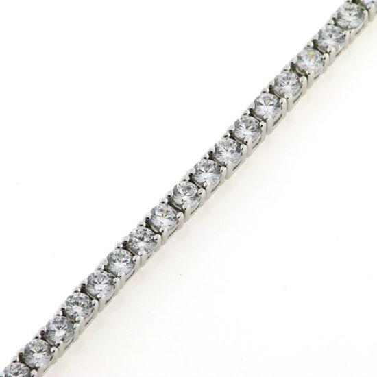 Billede af By Pind tennisarmbånd synt. zir. 2,5mm sølv rhodineret m. kasselås 18cm