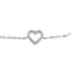 Billede af By Pind armbånd sølv rhodineret paveret hjerte med zirkoniasten