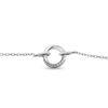 Billede af By Pind armbånd sølv rhodineret cirkel snoet med zirkoniasten