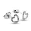 Billede af By Pind ørestikker sølv hjerte zirkoniasten