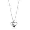 Billede af By Pind  halskæde sølv hjerte med zirkoniasten