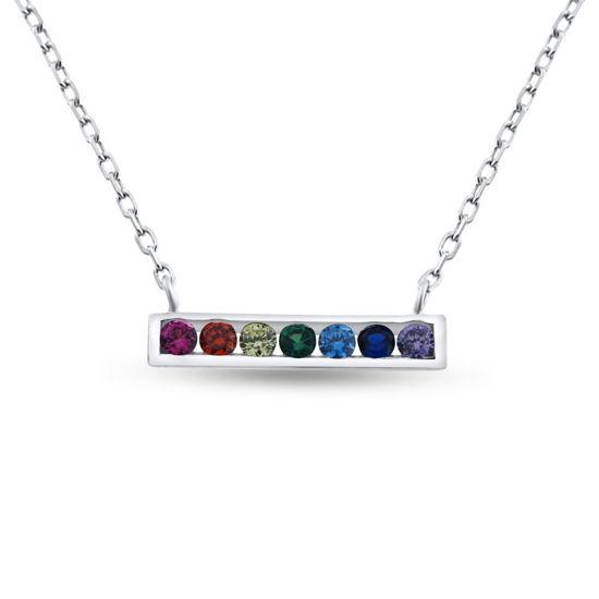 """Billede af By Pind """"Colorful long stick """" halskæde sølv rh m syn.zir"""