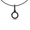 Billede af Classic by Pind halskæde cirkel sølv sort rhd. m  sorte syn.zir.*