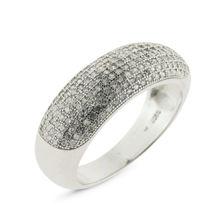 Billede af By Pind ring sølv rhodineret med hvide zirkonia sten (Str 59)