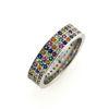 """Billede af Colorful By Pind """"Rainbow"""" ring sølv rhod. synt. stene"""