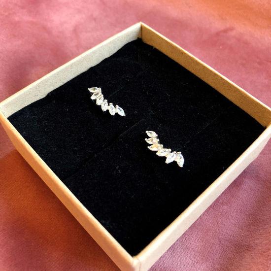 Billede af By Pind ørering sølv med zirkoniasten