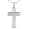 Billede af By Pind halskæde sølv rhodineret med kors vedhæng med zirkonia sten (40,45 eller 50 cm)