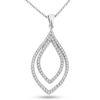 Billede af By Pind halskæde sølv rhodineret med zirkonia sten med rund ankerkæde (40, 45 eller 50 cm)