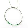 Billede af By Pind Colorful knyttet armbånd støvet grøn med mix sten og sølv