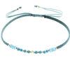 Billede af By Pind Colorful knyttet armbånd aqua,med apatit og turkis sten og sølvfg