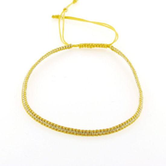 Billede af By Pind Colorful knyttet armbånd gylden og guldfarvet med sølvfg kugle
