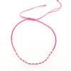Billede af By Pind Colorful knyttet armbånd pink med sølv kugler