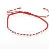 Billede af Classic by Pind Colorful ,knyttet armbånd rød med sølv kugler