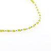 Billede af Classic by Pind Colorful ,knyttet armbånd lemon gul med sølv kugler