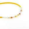 Billede af By Pind Colorful knyttet armbånd sølv forgyldt gult med ildopaler