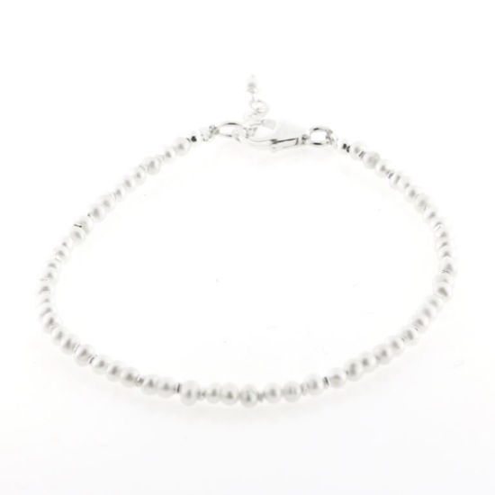 Billede af By Pind Colorful  armbånd med perle og sølv