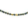 Billede af By Pind  Colorful armbånd  med iolit,London blå topas sølvforgyldt