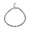 Billede af By Pind Colorful armbånd sølv med pink turmelin og rhodolit