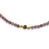 Billede af By Pind  Colorful armbånd  med pink turmelin,rhodolit sølvforgyldt