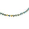 Billede af By Pind  Colorful armbånd  med lys og mørk amazonit sølvforgyldt