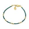 Billede af By Pind Colorful armbånd sølv forgyldt med grøn onyx og crysopras