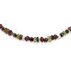 Billede af By Pind  Colorful knyttet armbånd sort med rhodalit,pyrit,turmelin,sølv