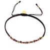 Billede af By Pind  Colorful knyttet armbånd mørk cerise med granat, rhodolit,turmelin ,sølvforgyldt