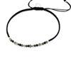 Billede af By Pind Colorful knyttet armbånd sølv sort med bjergkrystal, pyrit og spinel