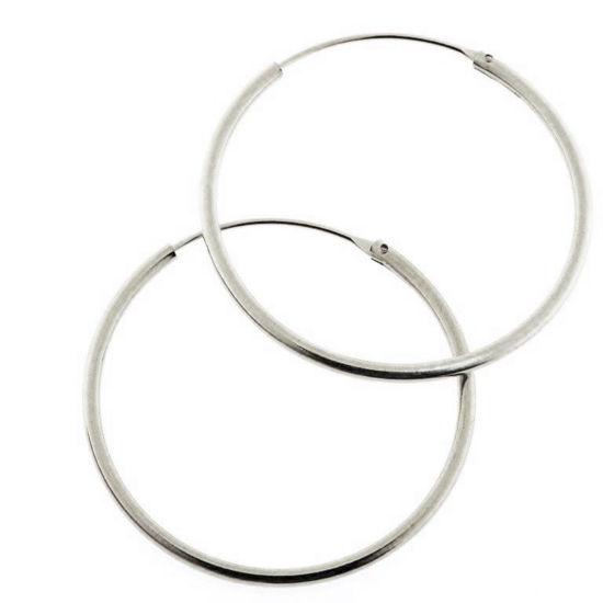 Billede af By Pind creol sølv med vippelås 25x1,5mm (2,5cm i diameter)
