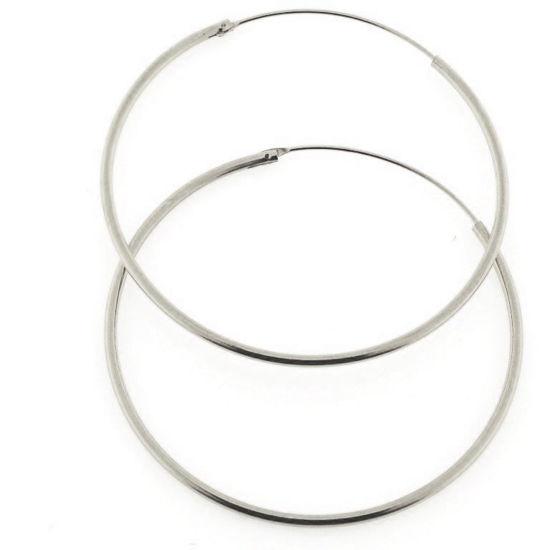 Billede af By Pind creol sølv med vippelås 45x1,5mm (4,5cm i diameter)