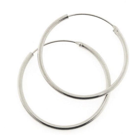 Billede af By Pind creol sølv med vippelås 35x2mm (3,5cm i diameter)