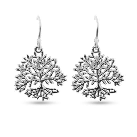 Billede af By Pind ørehænger sølv livets træ