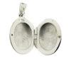 Billede af by Pind blank oval medaljon med med mønster sølv