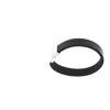 Billede af Men by Pind armbånd  sort læder stål lås 19cm