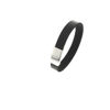 Billede af Men by Pind armbånd  sort læder stål lås 19-23 cm