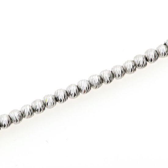 Billede af *By Pind armbånd sølv rhodineret med kugler 15+3cm