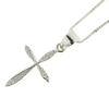 Billede af Classic by Pind halskæde m kors  sølv rhod m syn.zir.
