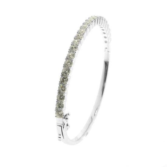 Billede af *By Pind armring sølv rhodineret med zirkoniasten