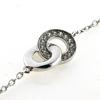 Billede af Classic by Pind armbånd med dobbeltcirkel sølv rhodineret med zirkonia 16+3cm
