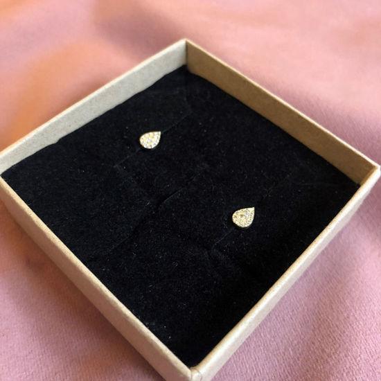 Billede af By Pind ørestikker sølv forgyldt med små zirkoniasten