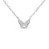 Billede af By Pind halskæde sølv rhodineret sommerfugl zirkoniasten (40 + 5cm)