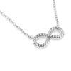Billede af Classic by Pind halskæde m uendelighedstegn  sølv rhod m syn.zir.,40+5cm