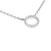 Billede af Classic by Pind halskæde m cirkel 11mm  sølv rhod m syn.zir.,40+5cm
