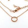 Billede af *By Pind halskæde sølv rosaforgyldt cirkel 11mm zirkoniasten (40+5cm)